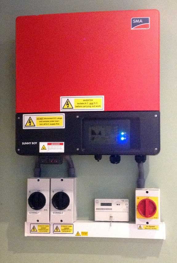 SMA Sunnyboy 3600W inverter at our Showroom