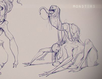 "Check out new work on my @Behance portfolio: ""Monsters (sketches)"" http://be.net/gallery/34251095/Monsters-(sketches)"