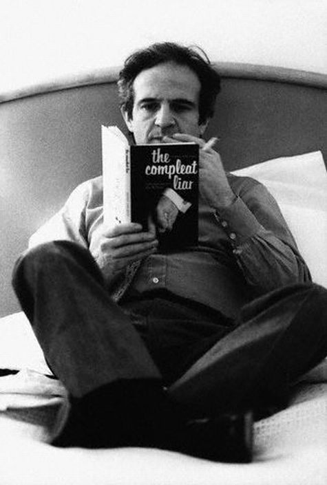 François Truffaut doing his homework, reading Penny Vincinzi's 1977 volume…