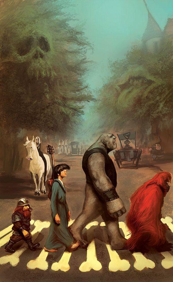 """Soul Music"" -- Sir Terry Pratchett's Discworld by marc simonetti, via Behance"