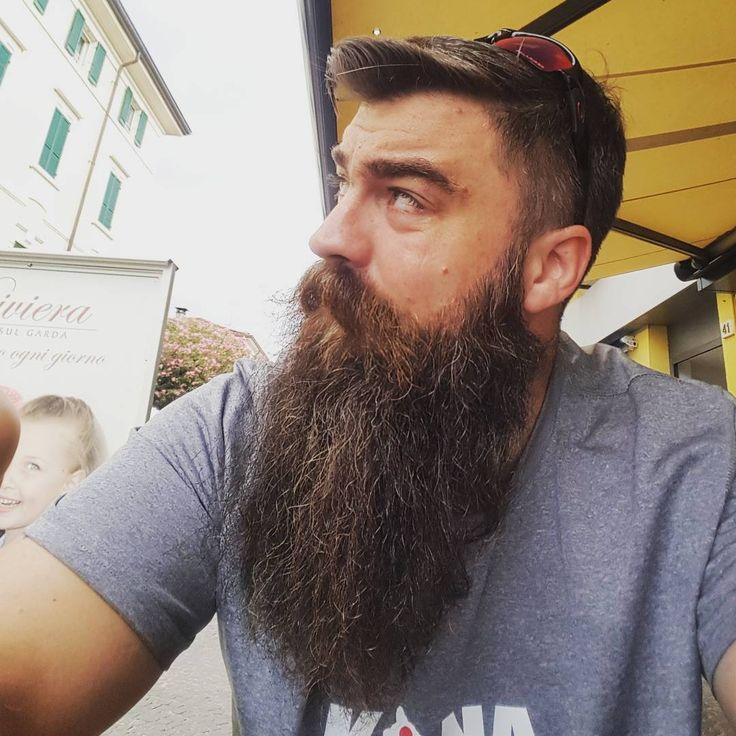 Owen McCann - full thick long bushy dark beard mustache beards bearded man men bearding #beardsforever