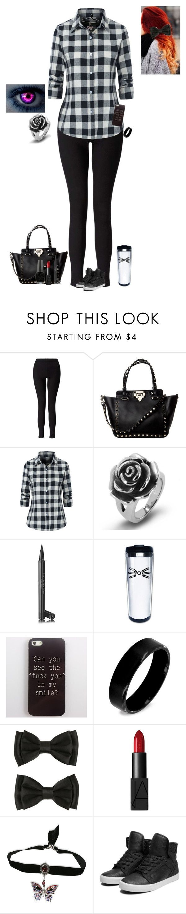 """""""Bad influence"""" by the-sickest666 ❤ liked on Polyvore featuring Miss Selfridge, West Coast Jewelry, Chanel, NARS Cosmetics, Supra and OPI"""