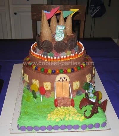 Kingdom of Davis Medieval Party - Castle Cake