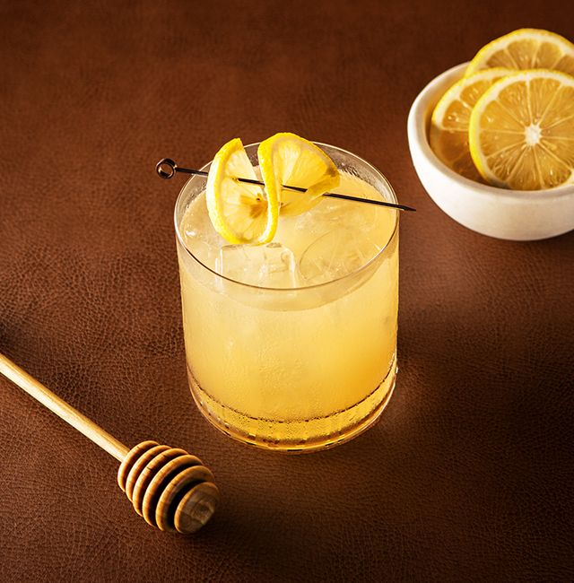 Enjoy Gold Rings, a cocktail made with Patrón Añejo.