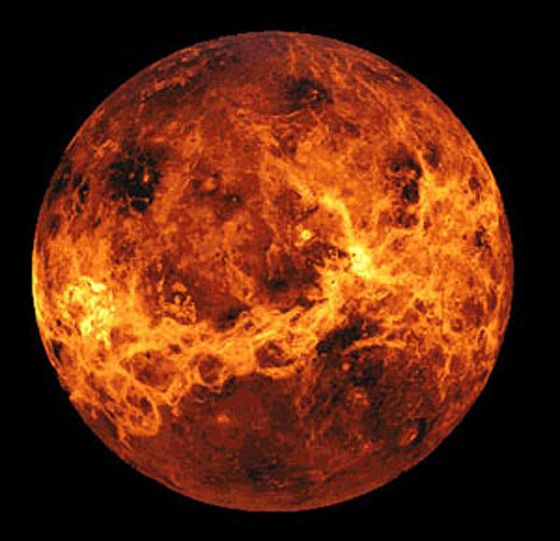 Amazingly, a single day on Venus is longer than its entire year. It takes Venus 243 Earth days to completely rotate on its axis, but just 225 days to orbit the sun. Stranger still, Venus is one of two planets that rotates in reverse.