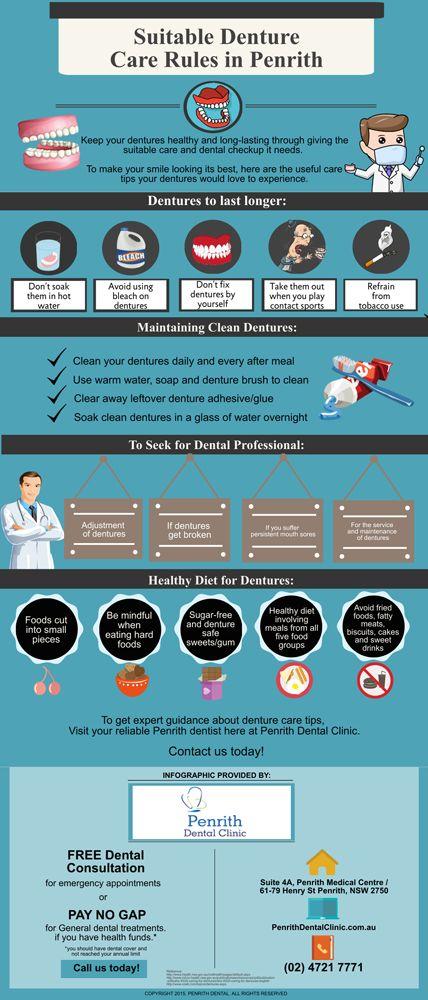 Suitable Denture Care Rules in Penrith http://penrithdentalclinic.com.au/