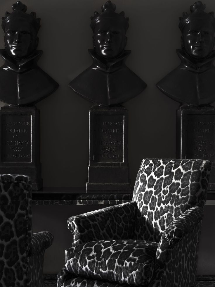 #andrewmartin #chair #leopardprint #grey
