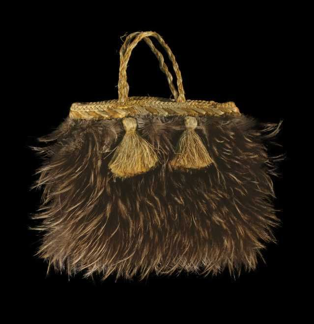 Object: Kete kiwi (feather bag) | Collections Online - Museum of New Zealand Te Papa Tongarewa
