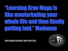 Madonna on IKMF Krav Maga