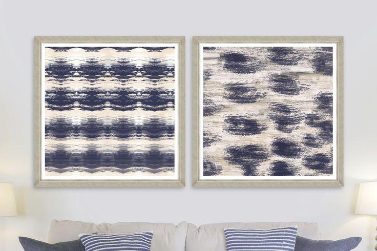 INDIGO WAVES - Premium Framed Art by MINDTHEGAP