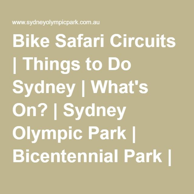 All Circuits Are Close To Facilities Such As Playgrounds Picnic Areas Bubblers And Toilets