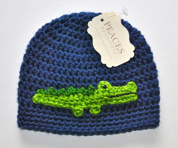 Baby Hats  Alligator / Crocodile Baby Beanie by peacesbycortney, $28.00