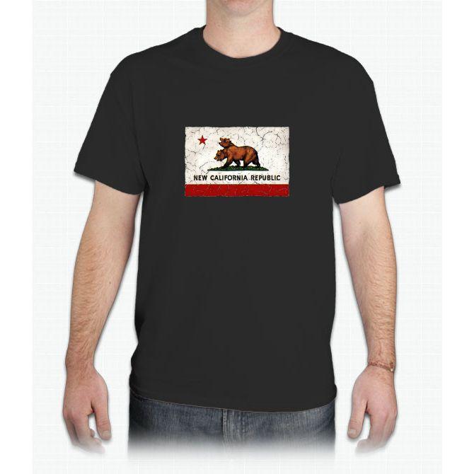 New California Republic Flag - Mens T-Shirt