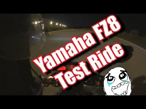 Test riding a Yamaha FZ8