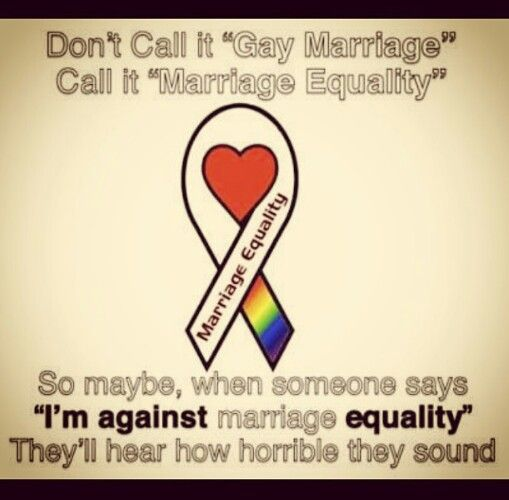 Equality... Yesssss