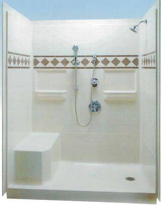 17 best showers images on pinterest shower caddies for 3 piece bathroom ideas