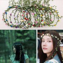 Em forma de borla flor Headband alta qualidade Bohemian coroa Floral do casamento Garland testa cabelo cabeça banda praia grinalda 9 cor(China (Mainland))