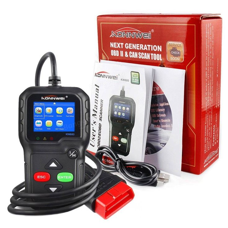 KONNWEI KW680 Code Reader Universal Car Diagnostic Scanner Tool Full OBDII EOBD Functions