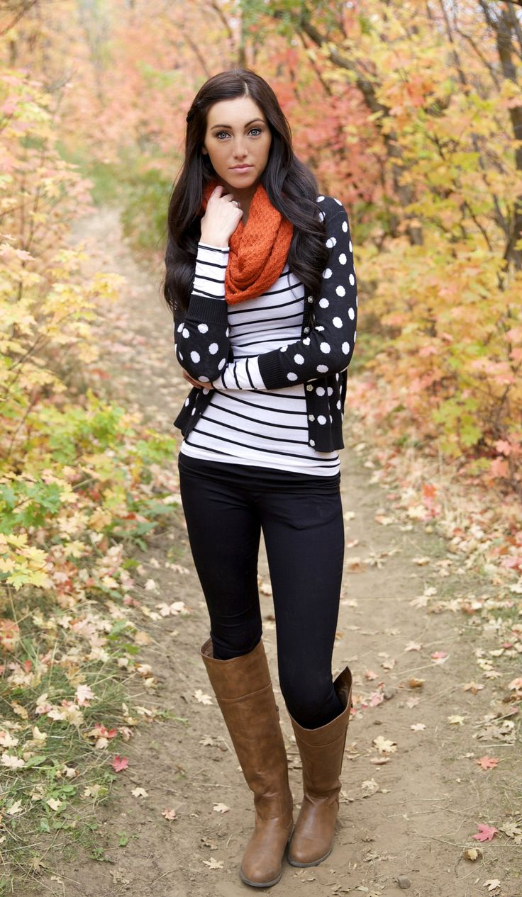 love the pattern mixing. I would prefer a necklace accent instead of the scarf (which I would take off during the day).