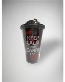 Zombie Keep Calm Cup with Flip-up Straw