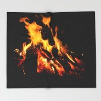 Fires of Moore River Throw Blanket