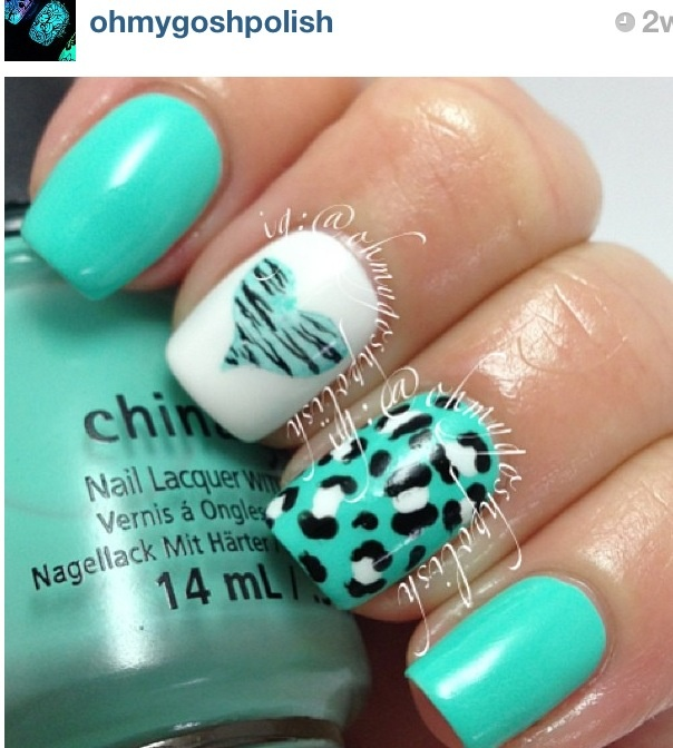 Turquoise with leopard