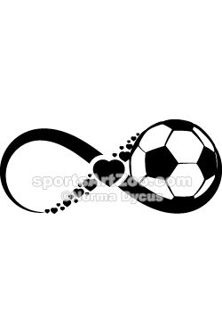 Soccer or Football Love Infinite by SportsArtZoo #soccer #football #sportsartzoo