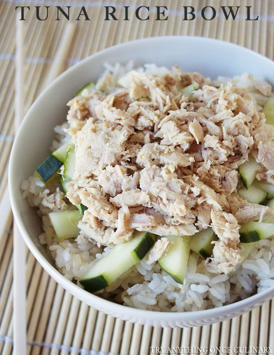 A tuna rice bowl is an easy weeknight dinner, especially on a school night, coming together in very little time so you can enjoy family dinner!