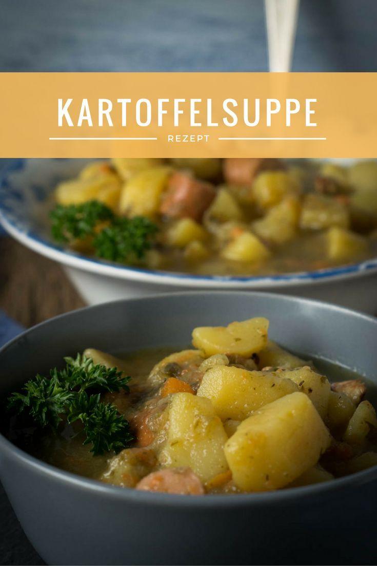 Perfektes Party Rezept für Kartoffelsuppe mit Würstchen