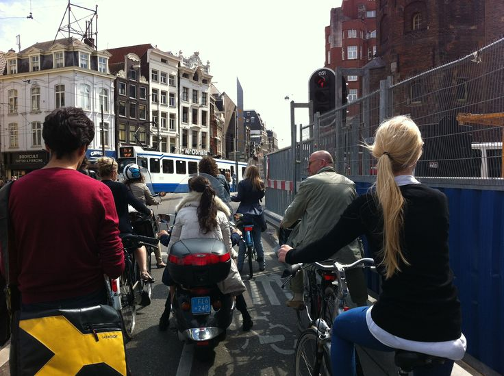 Typical Amsterdam rush hour traffic