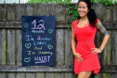 Pregnancy Week 12 Chalkboard Progression Tracker