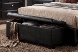 Leather Storage Bench Bedroom