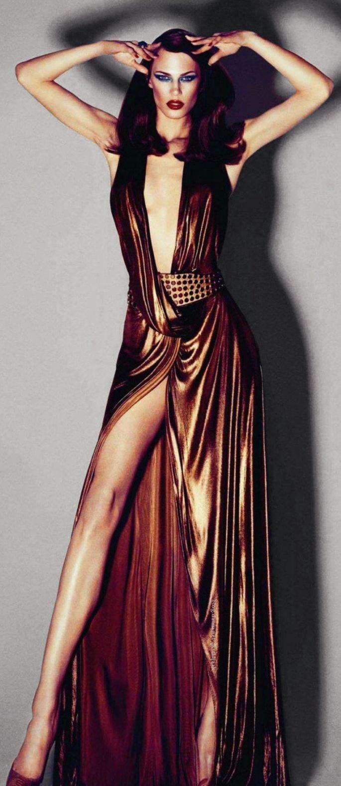 Aymeline Valade in Gucci for Harper's Bazaar Spain October 2011