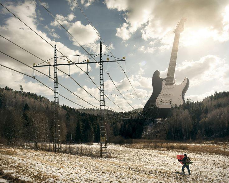 Guitare électrique : 20 photographies transformées enillusions d'optique - Linternaute