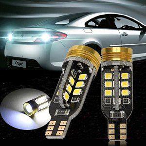TKOOFN Lot de 2 Lampes Feux Recul Phare W16W 921 T15 24-SMD 2835 LED 1.5W COB Blanc Ampoule Clignotant Signal Arrière Voiture Auto M03008