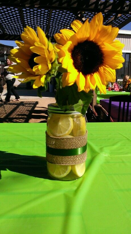 Sunflower centerpiece dream wedding pinterest