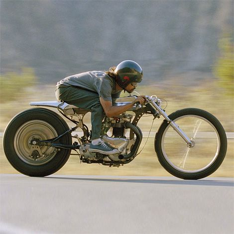 "Shinya Kimura on his 1957 Triumph 650 custom – ""The Needle"" - I understand the intent, but can you really ride this thing around?!"