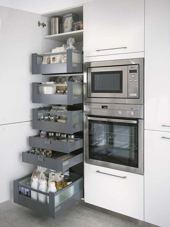 Eine gute Idee, um die Küche aufgeräumt zu haben: