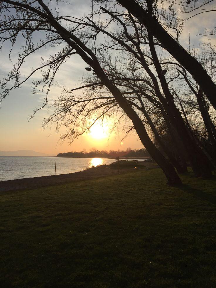 Sunset in trixonida lake...