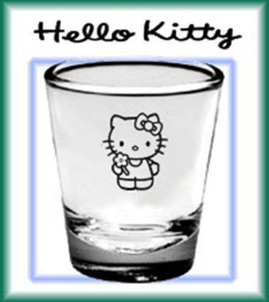 Hello Kitty shot glass Collector's glassware