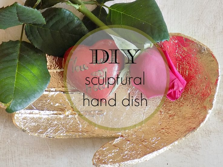 Art Decoration and Crafting: diy sculptural hand dish