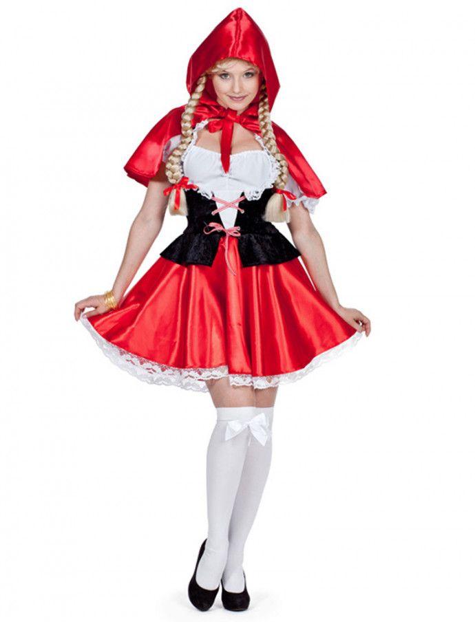 Rotkappchen Kleid Mit Umhang Fur Fasching Halloween Deiters Rotkappchen Damen Frauen Faschingskostume Frauen Marchen Kostume Damen Rotkappchen Kostum