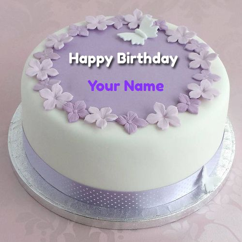 Name Birthday Write Cake Happy