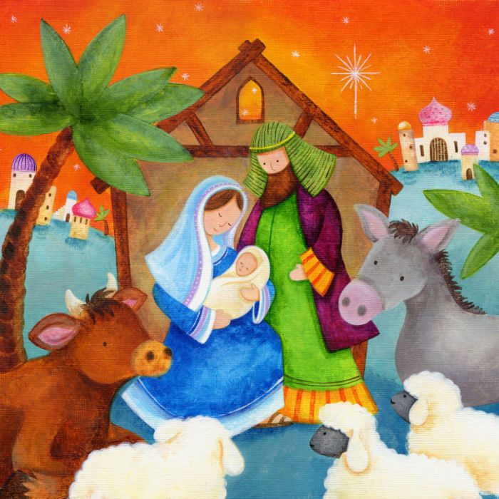 Mary and Joseph nativity.jpg | Clare Caddy | Representing leading artists who produce children's and decorative work to commission or license. | Advocate-Art