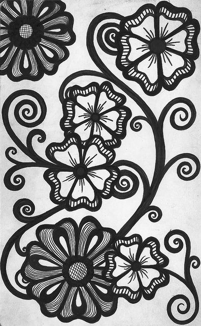 Zentangle Flower Tattoo Flower, Zentangle and ...