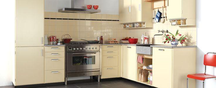 Witte Keuken Zwarte Plint : ... Witte Keukens op Pinterest - Witte ...
