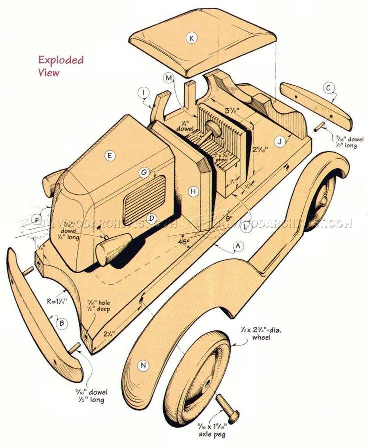 # 767 Деревянные Deuce Coupe план - Детские Деревянные игрушки планы и проекты