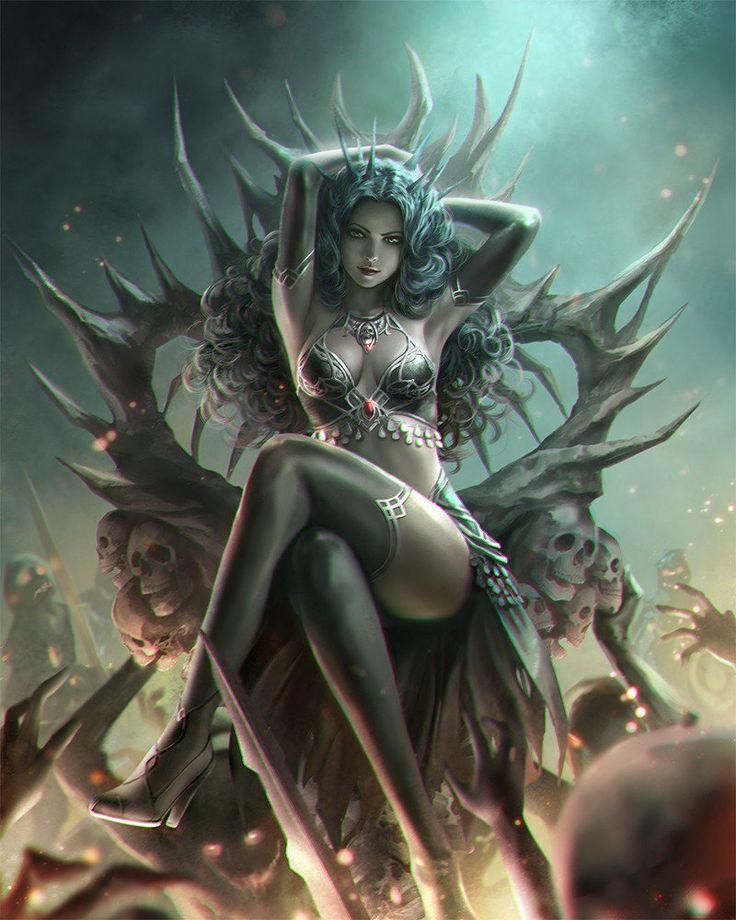 With erotic elf queen what