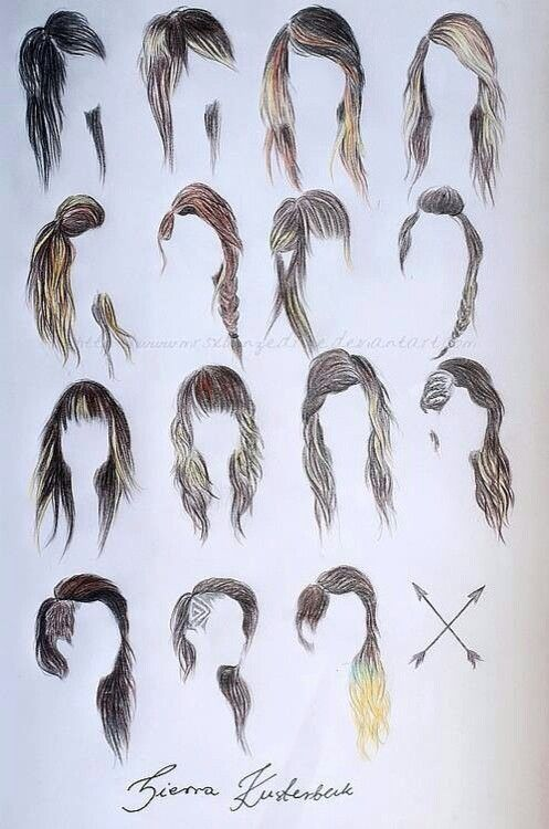 These hair styles are AWESOME!!! But, the second one on the first row is my fave, THE SCENE HAIR!!