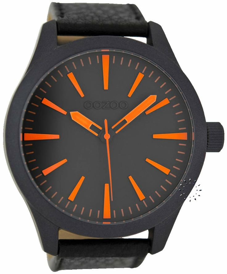 OOZOO Large Timepieces Black Leather Strap Μοντέλο: C6414 Η τιμή μας: 65€ http://www.oroloi.gr/product_info.php?products_id=38529